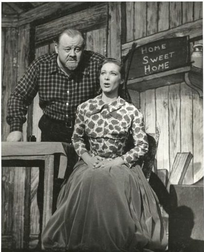 Nola with Burl Ives in Paint Your Wagon.